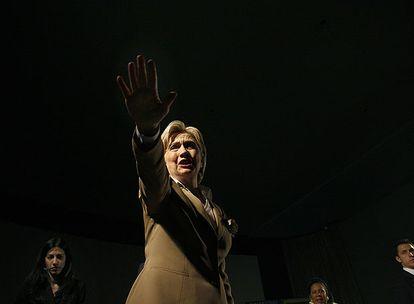 Hillary Clinton, en un acto electoral en Tejas.