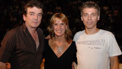 Jaime Urrutia y Ariel Rot con Gemma Nierga en una foto de 2007.