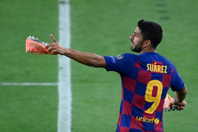 Luis Suárez, en uno de los últimos partidos disputados con el Barcelona este verano.