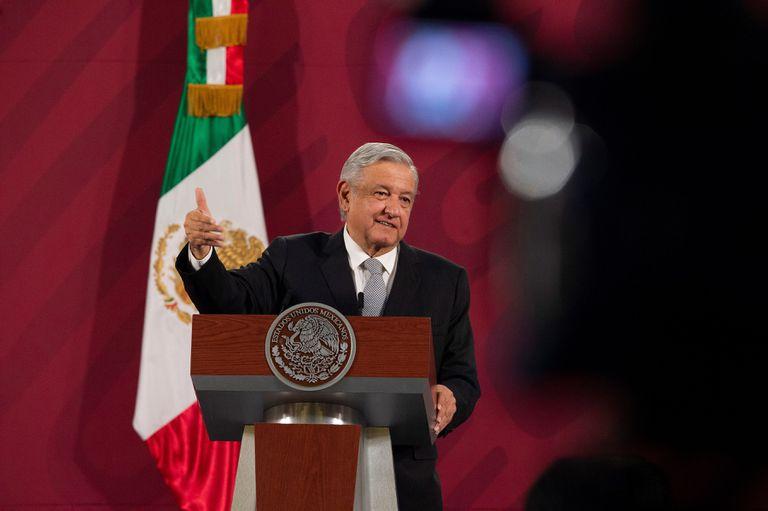 El presidente mexicano, durante una rueda de prensa en Palacio Nacional en mayo.