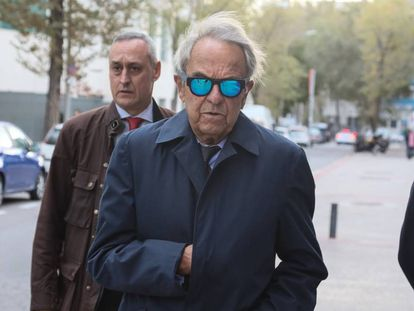 Jaime Botín, a su llegada a los juzgados, en noviembre en Madrid.