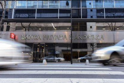 Una oficina de la Banca Privada d'Andorra.