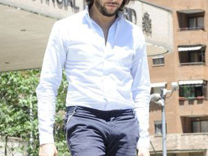 El bailarín Joaquín Cortés saliendo de la Audiencia Provincial de Madrid tras un juicio el 24 de mayo pasado.