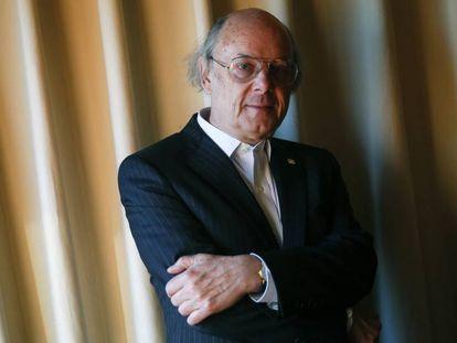 Bjarne Stroustrup, creador del lenguaje de programación C++, poco antes de recibir el Honoris Causa en el Campus de Getafe de la Universidad Carlos III (Madrid).