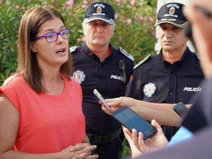 La alcaldesa de Móstoles, Noelia Posse, en una imagen de archivo.