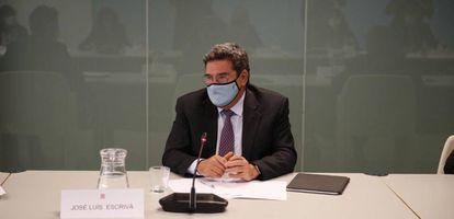 El ministro de Inclusión, Seguridad Social y Migraciones, José Luis Escrivá, este domingo en Barcelona.