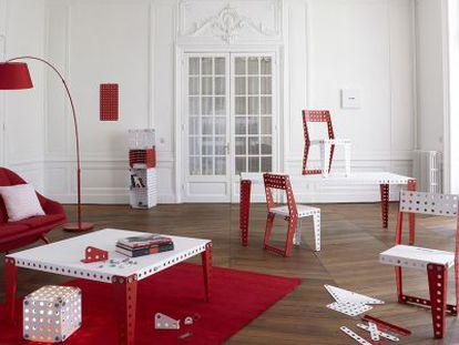 Muebles hechos con piezas de Meccano, de Meccano Home