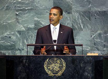 Barack Obama, durante su discurso en la Cumbre del Clima en la sede de Naciones Unidas en Nueva York