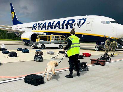 El avión de Ryanair forzado a aterrizar en Minsk.