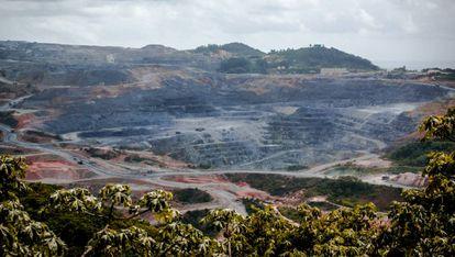 Mina de oro de Pueblo viejo, en la provincia de Sánchez Ramírez, República Dominicana.