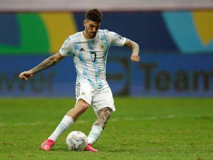 De Paul durante la Copa América con Argentina.