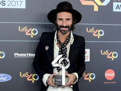 Leiva en los Premios 40 en el centro WiZink en Madrid este noviembre.