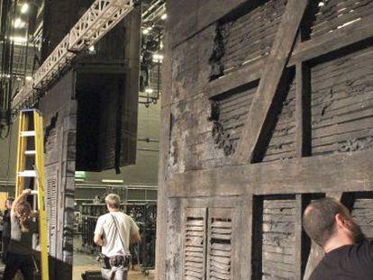 Montaje de 'Los Miserables' en el Palacio Euskalduna