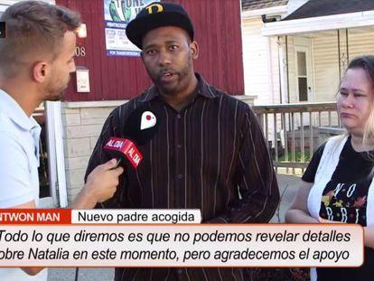 Antwon y Cynthia Mans, padres de acogida de Natalia Grace, durante la entrevista en Cuatro.