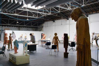 El estudio-taller de Francisco Leiro en Madrid.