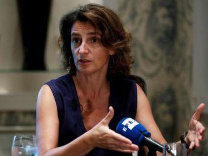 """La ministra para la Transición Ecológica, Teresa Ribera, reconoce que el porcentaje actual de beneficiarios es """"ridículo"""""""