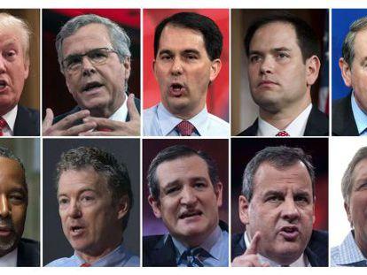 Los 10 republicanos que participarán en el debate