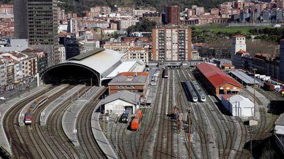 Imagen de la estación de Abando en Bilbao (archivo).