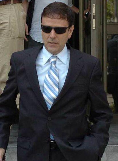 Eufemiano Fuentes, tras declarar en el juzgado en julio pasado.