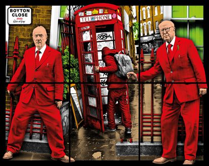 Gilbert & George 'Boyton Close' (2020).  COURTESY GALLERY WHITE CUBE