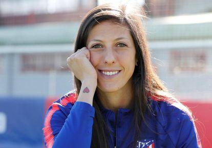 Jennifer Hermoso, en la ciudad deportiva del Atlético de Madrid.