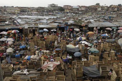 El mercado de Kumasi, Ghana