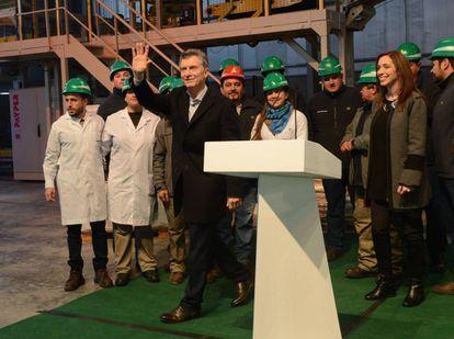 El presidente Macri inaugura una fábrica de fertilizantes en Pergamino, Buenos Aires