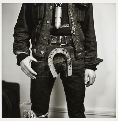 'Horseshoe Buckle' (1962), by Karlheinz Weinberger, one of the photos in the exhibition 'Masculinities', at the Luma Foundation in Arles (France).