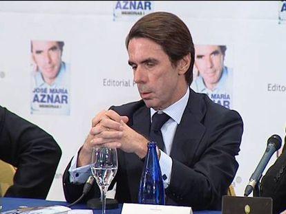 Aznar se remonta a 1934 para explicar la situación catalana