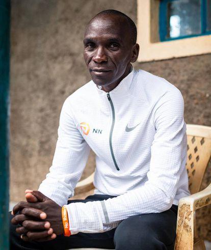 Eliud Kipchoge, en las instalaciones del NN Running Team en Kaptagat.