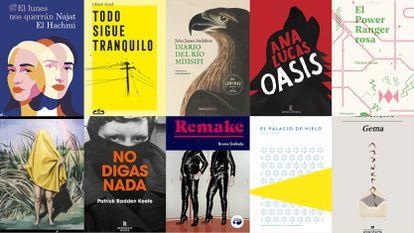 Las portadas de algunos de los libros analizados.