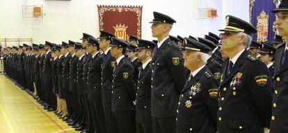 Última promoción de policías nacionales que juró el cargo el pasado octubre en Ávila.