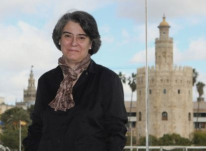 La escritora Matilde Asensi, durante la presentación internacional de su última novela, Venganza en Sevilla.