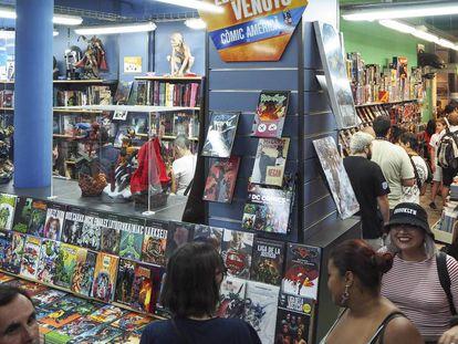 Aspecto del interior de la librería Norma Comics en Barcelona.
