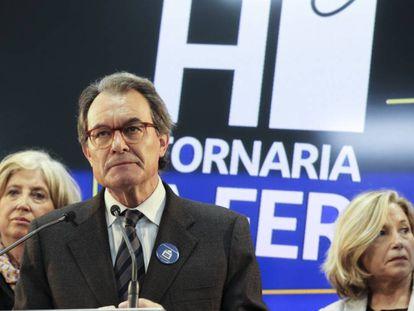 Artur Mas, entre Irene Rigau y Joana Ortega.