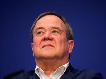 El líder de la CDU, Armin Laschet, el 16 de octubre en Muenster (Alemania).