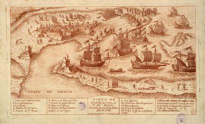 'Vista de Panzacola y su baia', (1781)