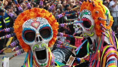 Desfile del Día de Muertos en Ciudad de México.