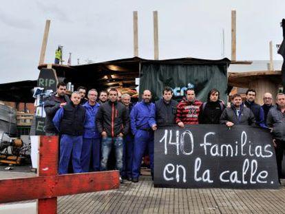 Concentración de trabajadores de General Cable en Vitoria, en una imagen de archivo.