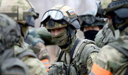 Soldados rusos en maniobras militares este año cerca de la frontera con China.