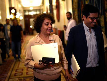 La vicepresidenta tercera del Cogreso de los Diputados, Gloria Elizo Serrano (Unidas Podemos).