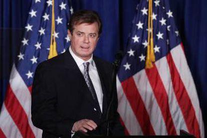 El ex jefe de campaña de Trump, Paul Manafort.