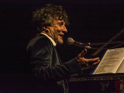 Fito Páez, en el concierto en el Circo Price de Madrid.