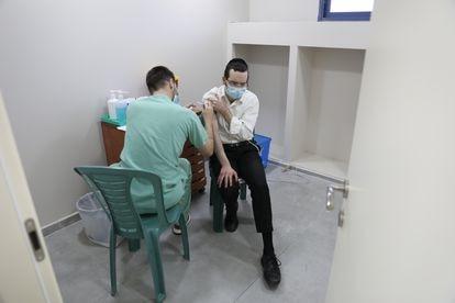 Vacunación en la ciudad israelí de Bnei Brak el 11 de febrero.