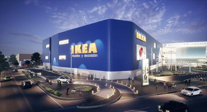 Centro comercial Encuentro Oceanía con la tienda Ikea México