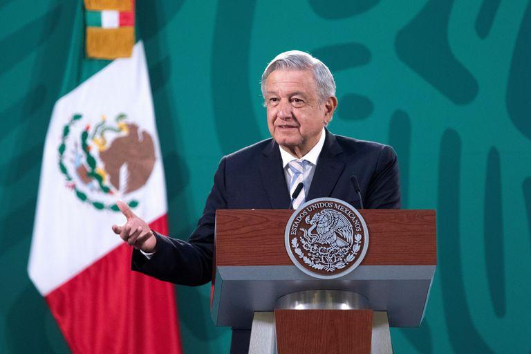 Andrés Manuel López Obrador, this Wednesday at the National Palace.