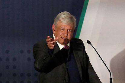 López Obrador durante la conferencia sobre seguridad.