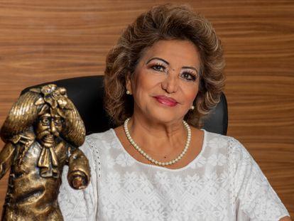 La alcaldesa de Acapulco y aspirante de Morena a la gubernatura de Guerrero, Adela Román Ocampo