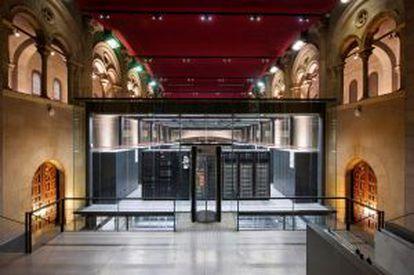 El superordenador MareNostrum, situado en el Centro Nacional de Supercomputación en Barcelona.