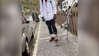 Un hombre es multado por ir a esquiar en pleno estado de alarma.